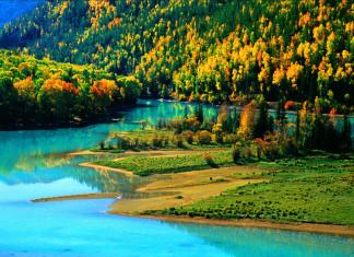ทะเลสาบคานาสือ, มณฑลซินเจียง, คุ้งน้ำแสงจันทร์, คุ้งน้ำเทพยาดา,หมู่บ้านถูหว่า, ทะเลสาบขาว, ทะเลสาบดำ, ประเทศจีน, ท่องเที่ยวจีน, kanasihu, 喀纳斯湖, ทะเลสาบคาน่าซือ