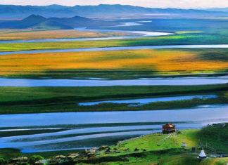 มหาทุ่งหญ้ารั่วเอ่อไก้, มณฑลเสฉวน, ท่องเที่ยวจีน, สถานที่ท่องเที่ยวในประเทศจีน, 甘南若尔盖, 四川省, โค้งแรกแม่น้ำฮวงโห, 黄河九曲第一湾