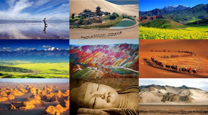 ทริปท่องเที่ยวจีน, มณฑลชิงไห่, มณฑลกานซู, ทะเลสาบชิงไห่, ภูเขาสายรุ้ง, เส้นทางสายไหมโบราณ, เที่ยวจีน