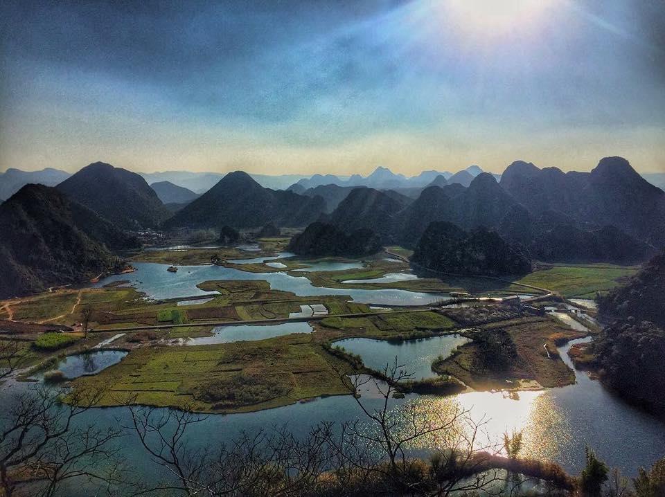 มณฑลยูนนาน ผู่เจ่อเฮย ท้อสิบลี้ สามชาติสามภพ หมู่บ้านผู่เจ่อเฮย ต้อท้อ ต้นซากุระ เขาชิงหลงซาน